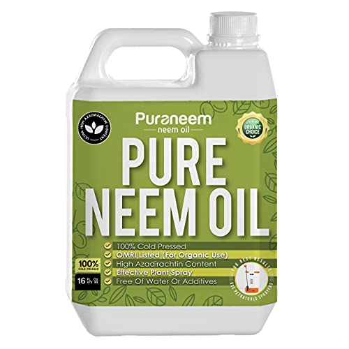 Pure PetraTools Neem Oil, Cold Pressed, Ultra High Azadirachtin Content, Essential Oil for Skin, Hair and Nails,Plant Concentrate, Leaf Polish, OMRI Listed (16 Fl Oz)