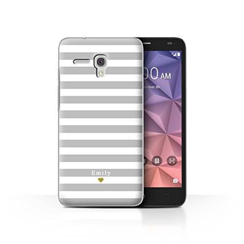 Stuff4Phone Case/Cover/Skin/alcfrxl/Custom Stripes/Striped Collection Coeur Argent/Gris