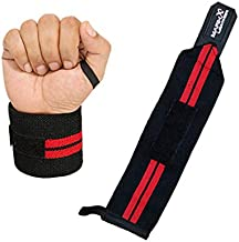 Grip Pads with Wrist Wraps for Gym Weight Lifting Body Building Brace Support Bandage