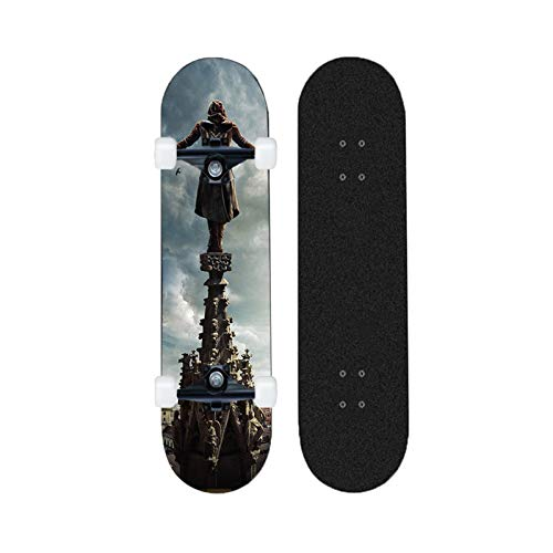 Yizhi Longboard Standard Skateboard Principiantes Assassin'S Creed Pattern Cruiser Professional Skateboards Adultos Chicos y niñas