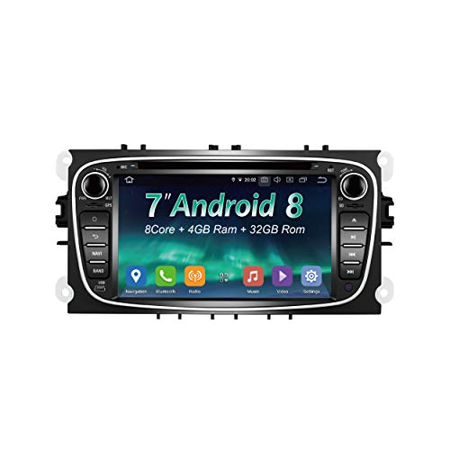 AMASE AUDIO Car Stereo, 7' Touchscreen, 2 Din for Mondeo/Ford...