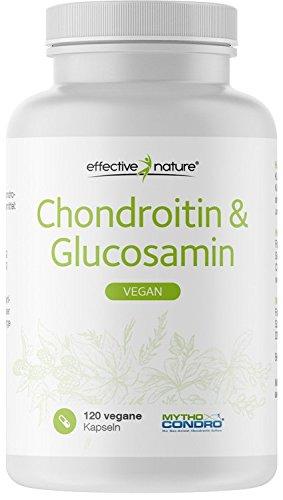 effective nature Chondroitin & Glucosamin, 100% vegan durch patentierten Fermentationsprozess, hochdosiert & hohe Bioverfügbarkeit, laborgeprüft & hergestellt in Deutschland, 120 Kapseln