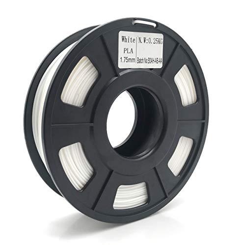 XBaofu 1pc 3D-Drucker PLA Filament 1.75mm Filament Dimensional Genauigkeit +/- 0,03 mm 0,25 kg 3D-Druckmaterial for 3D-Drucker RepRap (Größe : Weiß)