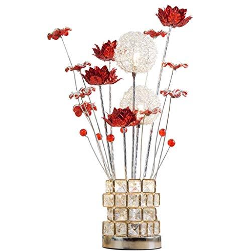 xiaokeai Lámpara Mesa Hogar lámpara de Mesa de Noche Dormitorio lámpara Moderna Minimalista nórdico Sala de Estar de Moda Creativa del Regalo de Boda del jardín de la lámpara Lampara Mesilla