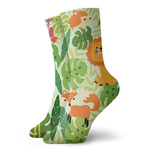 print-animal-selva-patrón Deporte Calcetines de Compresión Moda Crew Calcetines Hombres Y Mujeres...