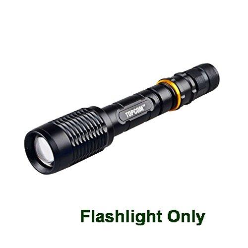 Lampe de poche uniquement, noire : [Livraison gratuite] TopCom☛ Nouvelle lanterne haute puissance 5000 lumens CREE XML T6 Big LED Lampe torche TP1824