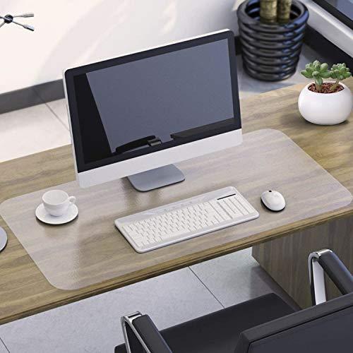NATRKE Schreibtischunterlage Transparent, 80x40x1.5cm Schreibunterlage groß klare Durchsichtige Schreibtischmatte Unterlage Tischschoner rutschfeste Runde Kanten Schreibunterlage für Büro und Zuhause