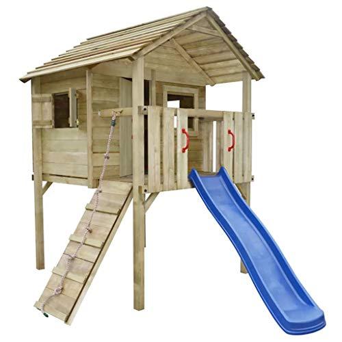 vidaXL Holz Spielturm Spielhaus Kletterturm Leiter Rutsche Garten 360 x 255 x 295 cm