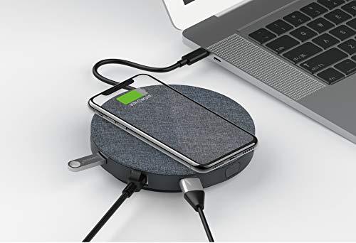 Devia Carregador Qi Wireless Devia UFO 10 em 1 Cinzento