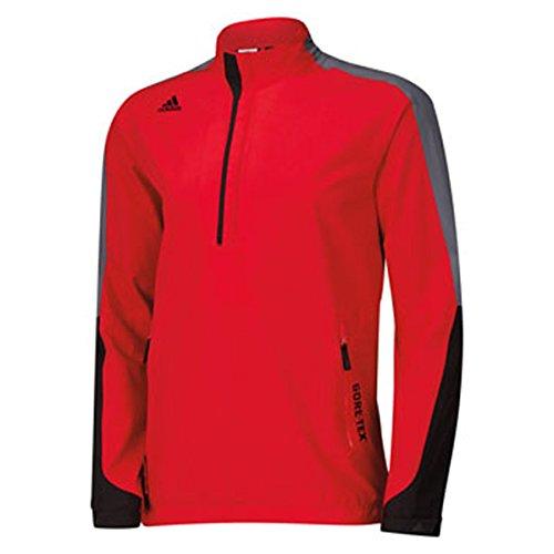adidas Golf Men's Gore - Tex 2-Layer 1/2 Zip Jacket, Bold Red/Black/Onyx, Small