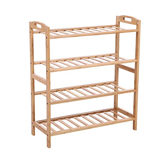 KKTONER Bamboo Wood Shoe Rack
