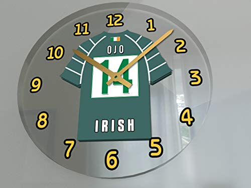 MyShirt123 Wanduhr Aviva Rugby Union RFC Club ! London Irish Rugby Club
