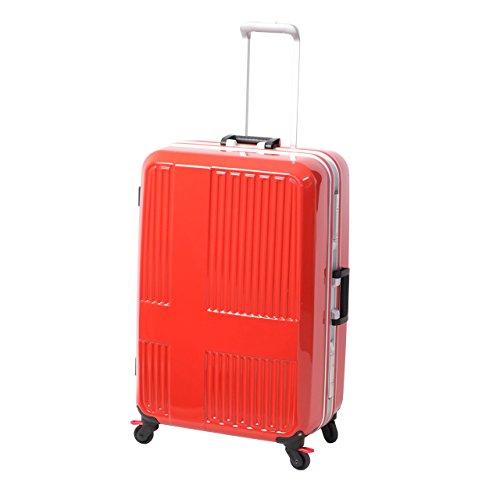 [イノベーター] スーツケース 受託手荷物無料サイズ ストッパー 10周年モデル INV675 保証付 90L 76 cm 5.7kg ミラーサンセットオレンジ/レッ