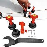Roexboz Set de ayuda de colocación de azulejos con llave especial para colocar azulejos, cuñas y lengüetas