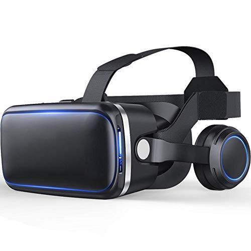 ZENWEN Neue Kopfhörer Edition IMAX Riesen Bildschirm 360 ° VR Brille 3D Headset Virtual Reality Brille für 4,0 Zoll - 6,0 Zoll Apple, Android Smartphone (schwarz)