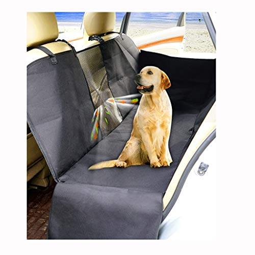 Pet Car Seat Pet Car Cushion waterdicht, krasvast en antislip steun en hangmat, Dog Rear Seat Cover met mazen for auto vrachtwagens en SUV's (Color : Beige)