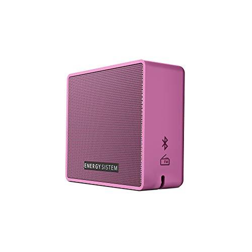 Energy Sistem Box 1+ Altavoz inalámbrico portátil con Bluetooth (5 W, microSD MP3, FM Radio, Audio-In) - Grape