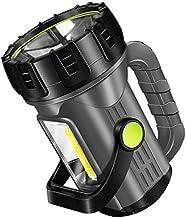 Portable Lightweight 500W Flashlight, Long-Range 1500Lm Lantern Super Bright Xenon Waterproof Searchlight Spot Work Light ...