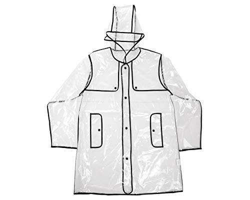 ds. distinctive style DSstyles Impermeable transparente Mujer EVA Abrigo impermeable con capucha Impermeable Poncho impermeable con capucha - Corto