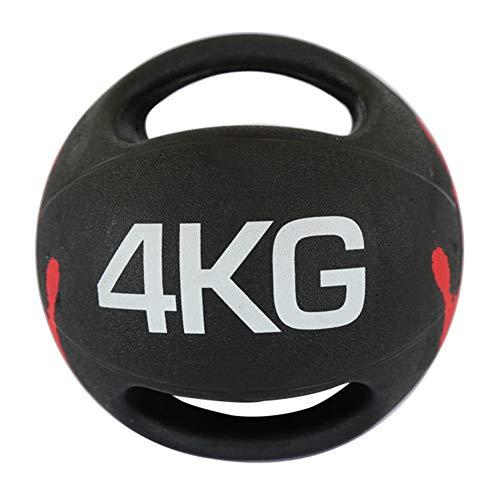 Balón Medicinal Balón Medicinal De Fitness, Material De Goma Antideslizante con Asa, Equipo De Entrenamiento Muscular De Núcleo Interior, 4 Kg
