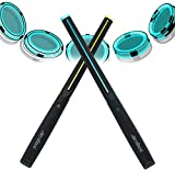 AEROBAND Bluetooth Drum Sticks, Air Electronic Drum Set with Light, Wireless Connection Pocketdrum, 4 Modes Portable Drumsticks Indoor/Outdoor Travel Using- 1 Pair