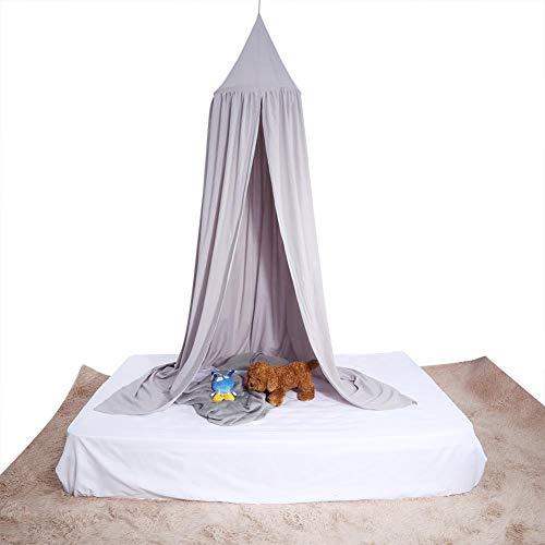 Zerodis Round Dome Wiszące Łóżeczko Dziecięce Łóżko Moskitiera Kurtyna Z Baldachimem Dla Dziecka Kid Home Decor (Szary)