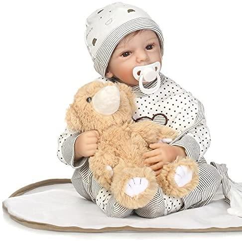 """Pinky Reborn Fashion Reborn Baby Doll 20"""" Realistic Handmade Silicone Newborn Baby Boy Doll Child Toy"""