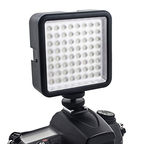 Ponacat Luce Video a Led Luce di Riempimento Portatile con Caricabatterie per Videocamere