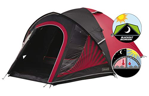 Coleman Tent The Blackout 3, 3 Man Festival Camping Tent with Blackout Bedroom Technology, Festival Essential, 3 Person Dome Tent, 100% Waterproof...