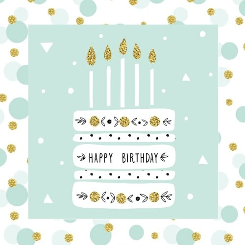 Happy Birthday: Guest Book Gold Color-FILLED Fluer de Lis End Pages Gifts for Women for Girls for teens 26th 27th 28th 29th 31st 32nd 33rd 34th 36th ... Guest Books, Birthday Cake Toppers, Band 1)