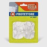 La Briantina Topes de Goma para Muebles, protección para Puertas, armarios y Muebles, de PVC Transparente, 2,5 x 2 cm, 4 Unidades