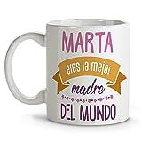 LolaPix Taza Mejor Madre del Mundo. Regalos Día de la Madre. Taza Personalizada. Regalos Originales. Varios diseños. Mejor Madre