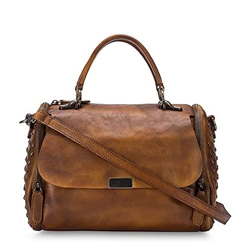 WDCCG Weinlese-Leder-Handtaschen, Handarbeit, kann Stilvolle eingesetzt Werden, für Reisen, Geschäftsleben, Freizeit, Reisen und Pendeln,Da