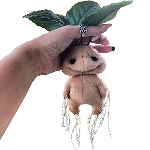 Magical Mandrake Plush Toys - Soft Cute Mandragora Plush Stuffed Figure Doll Toy, Realistic Expression and Clear and Realistic Outline, Funny Stuffed Plush Toy for Children's Day Gift
