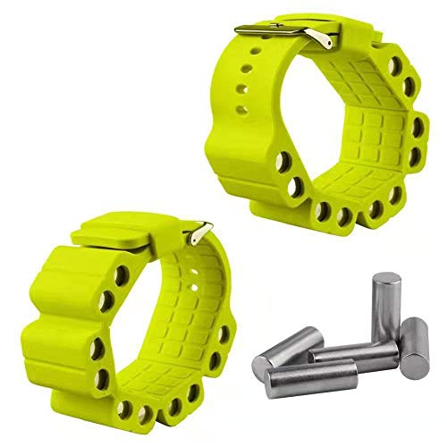 Silicone Adjustable Weight Bracelet Strap Wrist Support Wrap Bracer Wristband for Fitness Exercise Jogging 20pc Stainless Steel-Yellow