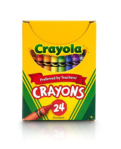 Crayola Classic Color Pack Crayons, Tuck Box, 24 per Pack (52-0024)
