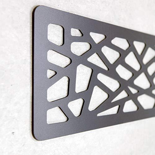 Cabecero Cama PVC 10mm 3D Decorativo Económico. Greece (150cm x 60cm, Negro)