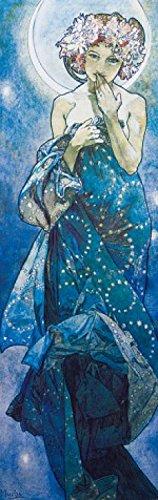 1art1 Alphonse Mucha - Der Mond, 1902 Selbstklebende Fototapete Poster-Tapete 240 x 75 cm