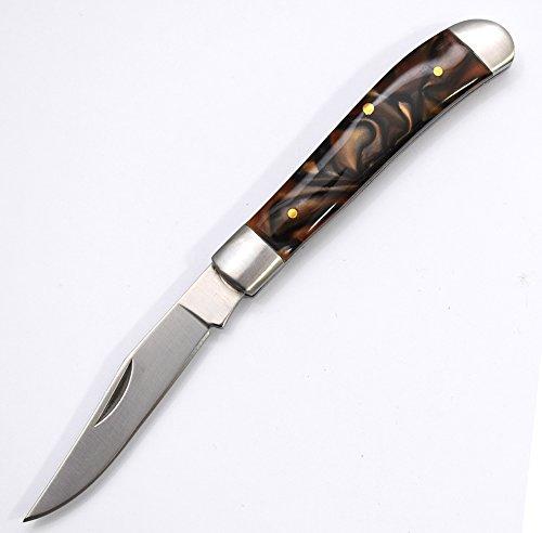 World Legal Premium Scharfes Falten Marmor-Effekt Klappmesser Taschenmesser - Klinge 6cm - einsetzbar für Freizeit, Arbeit, Wandern & beim Camping