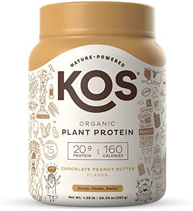 KOS Organic Plant Based Protein Powder Chocolate Peanut Butter Delicious Vegan Protein Powder product image