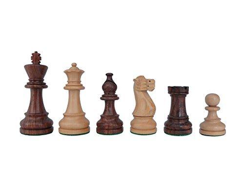 SchachQueen - Bundesliga Turnier Schachfiguren Staunton American braun/weiß Holz Königshöhe 98 mm