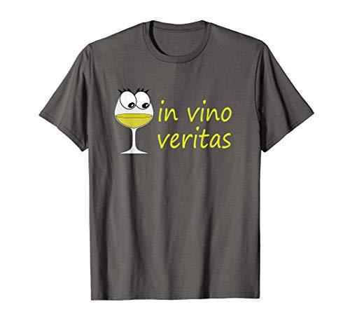 in vino veritas | Wein | Weißwein | Spruch | Grafik | Fun T-Shirt