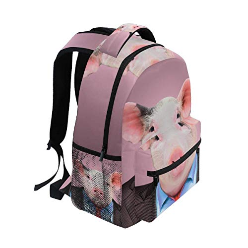 BEBO Backpacks Pigman School Backpack Large Capacity School Bag Canvas Casual Travel Daypack Perfect for Women Men Girls Boys