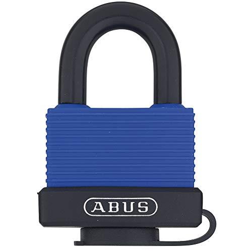 ABUS 70/45 All Weather Solid Brass Weatherproof Padlock Blue Keyed Alike - Stainless Steel Shackle