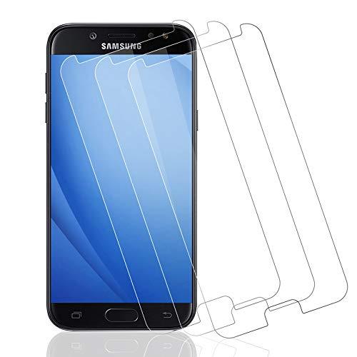Wiestoung Protecteur d'écran en Verre Trempé pour Samsung Galaxy J5 2017, [2.5D Bord] [Anti-Rayures] [sans Bulles][Transparent HD ] Film Protection écran Vitre pour Samsung Galaxy J5 2017-3 Pièces