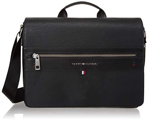 Tommy Hilfiger Messenger Bag for Women Leo, Black