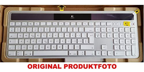 Logitech K750 Solar Keyboard Gray for Mac QWERTZ Layout DEU-FRA Teclado Gris