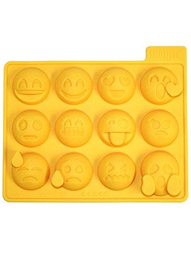 Eiswürfel Form Emoticons Lachgesichter gelb 16x12cm