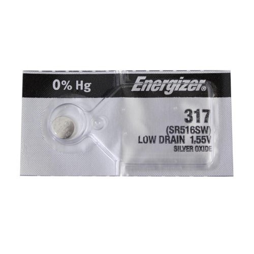 Energizer 317 Silver Oxide Watch Batteries SR516SW SR62 by ENERGIZER-DIS