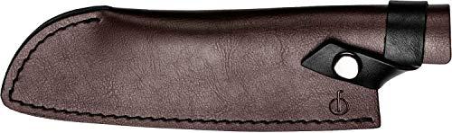 Forged Klingenschützer, Santoku-Messer von 18cm, Aus braunem Leder, Mit Druckknopfverschluss